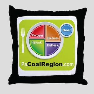 Coal Region Food Groups Throw Pillow