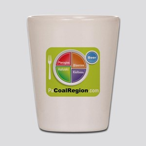 Coal Region Food Groups Shot Glass