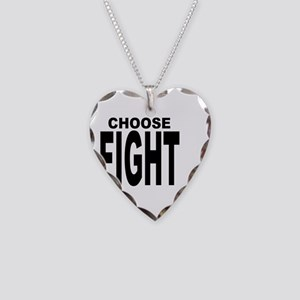 CHOOSE FIGHT Necklace Heart Charm