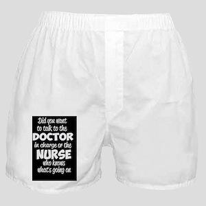 Nurse Humor Boxer Shorts