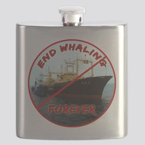 End Whaling Forever Flask
