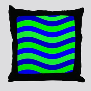 Do the Wave Blue Green Wild One 23 Throw Pillow