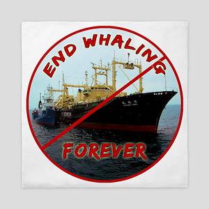 End Whaling Forever Queen Duvet