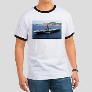 CV 16 Ship's Image Ringer T