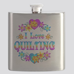 I Love Quilting Flask