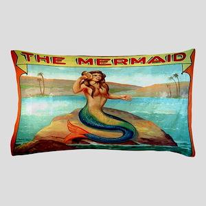 Vintage Mermaid Carnival Poster Pillow Case