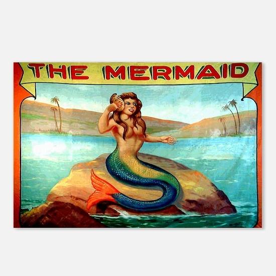 Vintage Mermaid Carnival  Postcards (Package of 8)