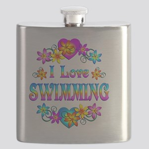 I Love Swimming Flask