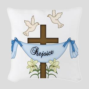 REJOICE Woven Throw Pillow