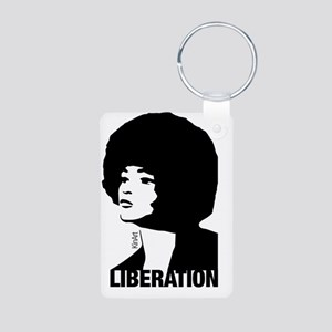 Angela's Liberation Aluminum Photo Keychain