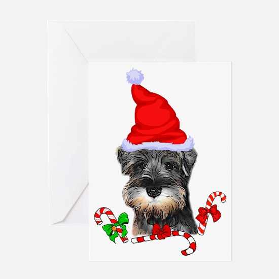 Unique Schnauzer dogs Greeting Card