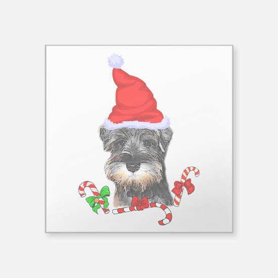 Miniature Schnauzer Christmas Sticker
