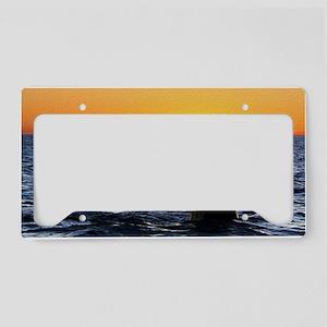Sunset Fluke License Plate Holder