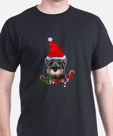 Miniature Schnauzer Christmas T-Shirt