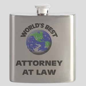 World's Best Attorney At Law Flask