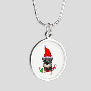 Miniature Schnauzer Christmas Necklaces