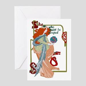 She Greeting Card