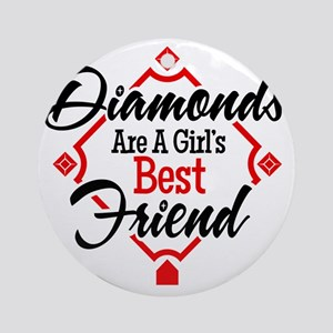 Diamonds BR Round Ornament