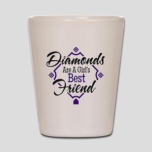 Diamonds P B Shot Glass