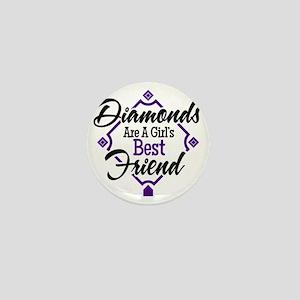 Diamonds P B Mini Button
