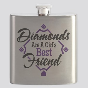 Diamonds P B Flask