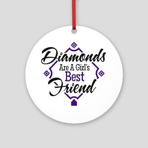 Diamonds P B Round Ornament