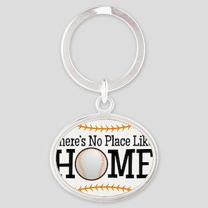 No Place Like Home BG Oval Keychain