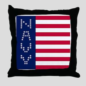 NAVY VERTICAL LEFT Throw Pillow