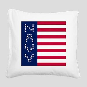 NAVY VERTICAL LEFT Square Canvas Pillow