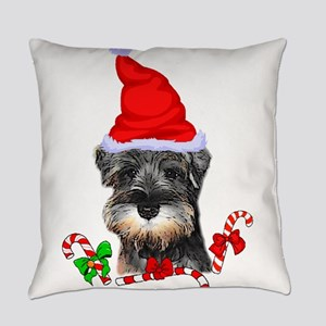 Miniature Schnauzer Christmas Everyday Pillow