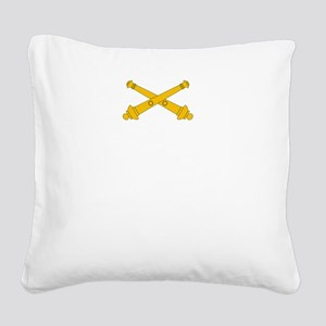 Call for Artillery Square Canvas Pillow