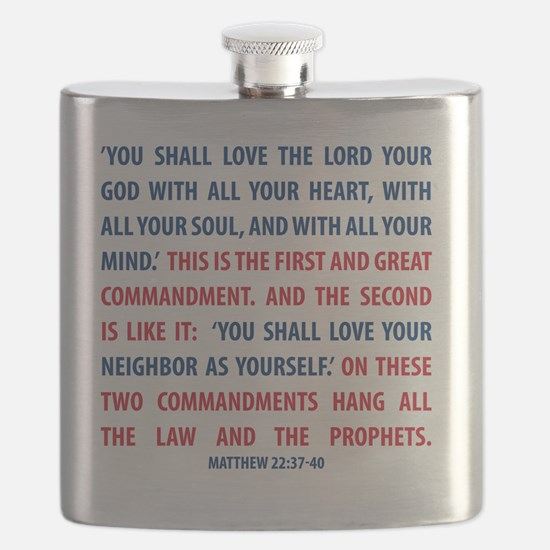 The Greatest Commandment Flask