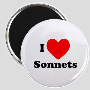 I Love Sonnets Magnet