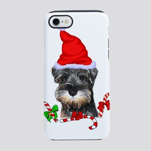 Miniature Schnauzer Christmas iPhone 7 Tough Case