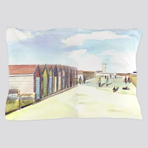 The Beach Huts at Blyth Pillow Case