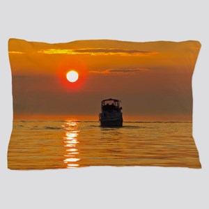Boat at Sunset Pillow Case