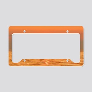 Boats at Sunset II - Holland  License Plate Holder