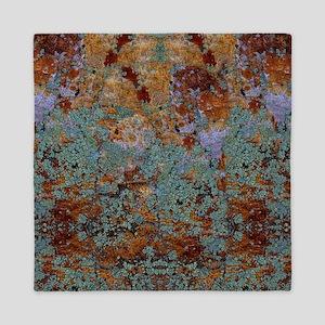 Rustic Rock Lichen Texture Queen Duvet