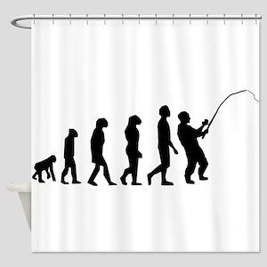 Fishing Evolution Shower Curtain