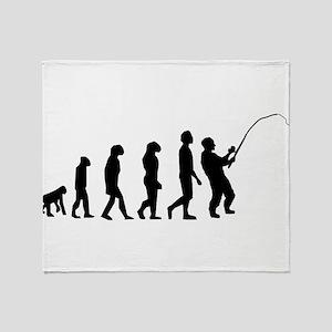 Fishing Evolution Throw Blanket