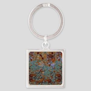 Rustic Rock Lichen Texture Keychains