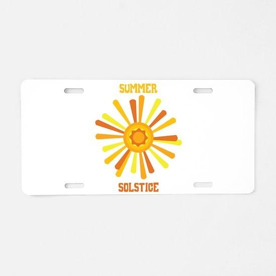 Summer Solstice Aluminum License Plate