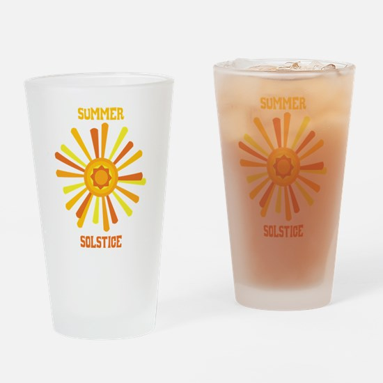 Summer Solstice Drinking Glass