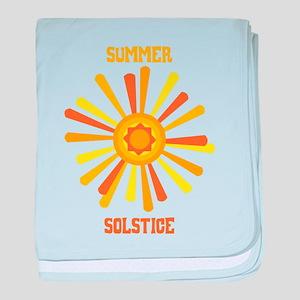 Summer Solstice baby blanket