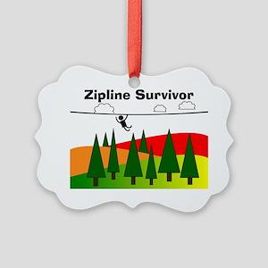Zipline Survivor Picture Ornament