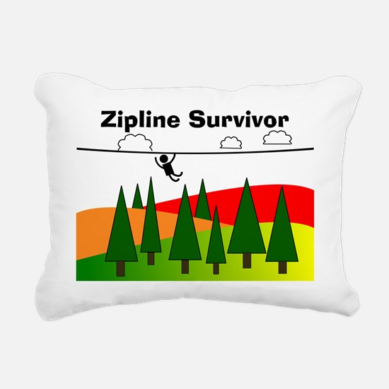 Zipline Survivor Rectangular Canvas Pillow