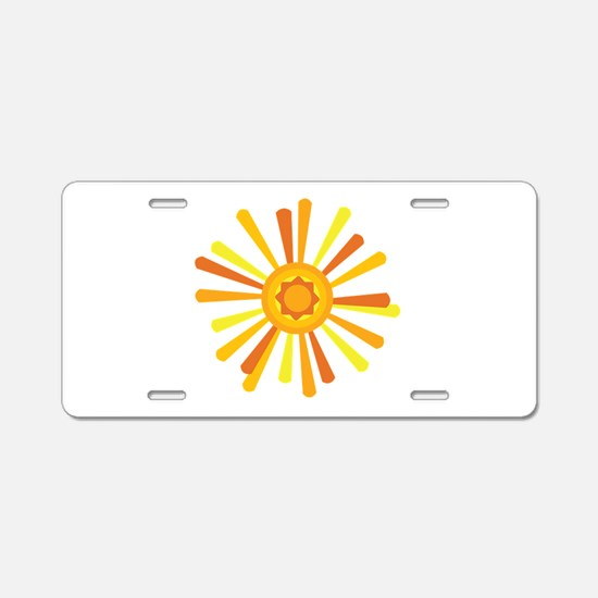 Summer Sun Aluminum License Plate