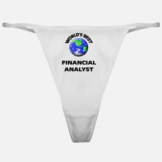 World's Best Financial Analyst Classic Thong