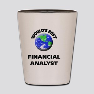 World's Best Financial Analyst Shot Glass