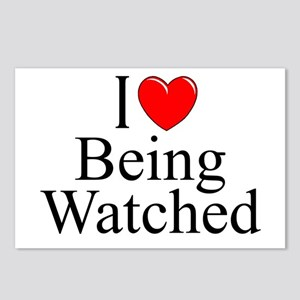 """""""I Love (Heart) Being Watched"""" Postcards (Package"""